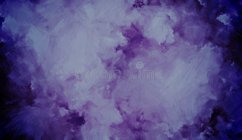 Azul contra o fundo abstrato acrílico roxo Projete para fundos, papéis de parede, tampas e empacotamento ilustração do vetor