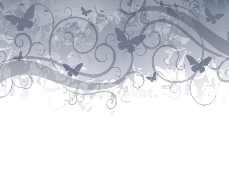 Azul da beira da borboleta ilustração do vetor