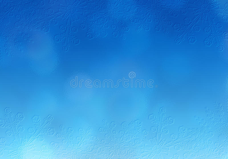Azul da cena da neve do Natal foto de stock royalty free