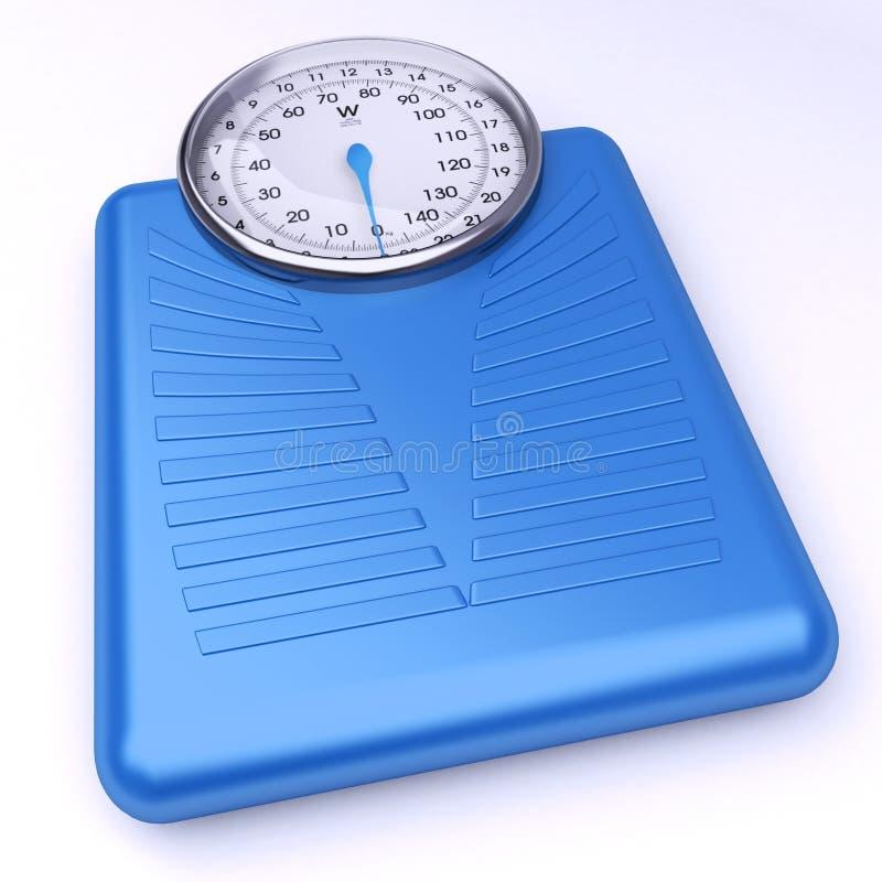 Azul da escala do peso ilustração royalty free