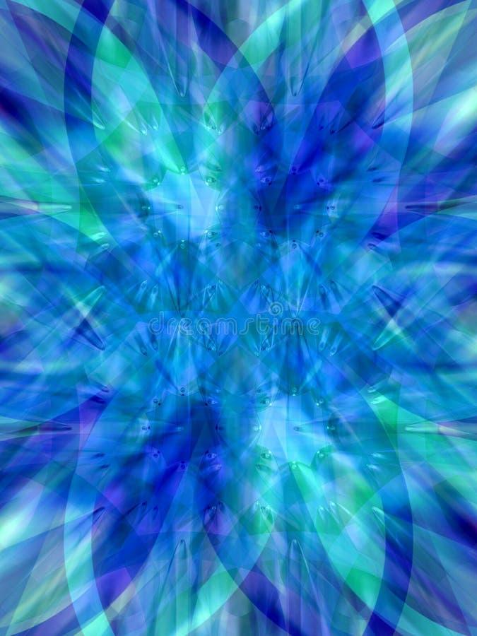 Azul da estrela ilustração royalty free