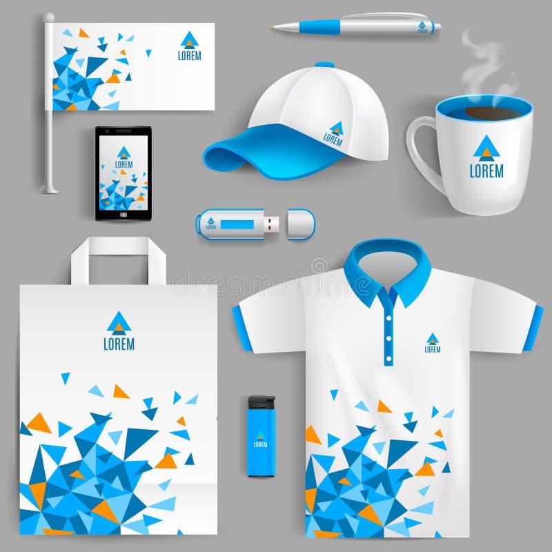 Azul da identidade corporativa ilustração royalty free