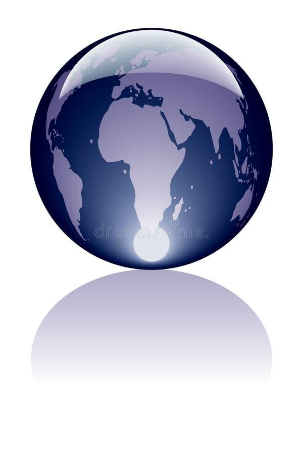 Azul da tecla do mundo ilustração do vetor