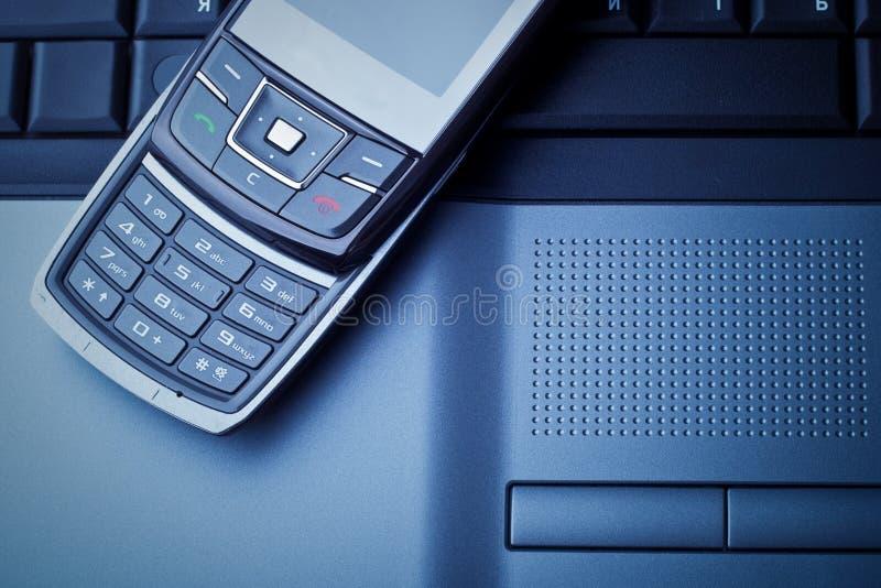 Azul das comunicações empresariais tonificado foto de stock