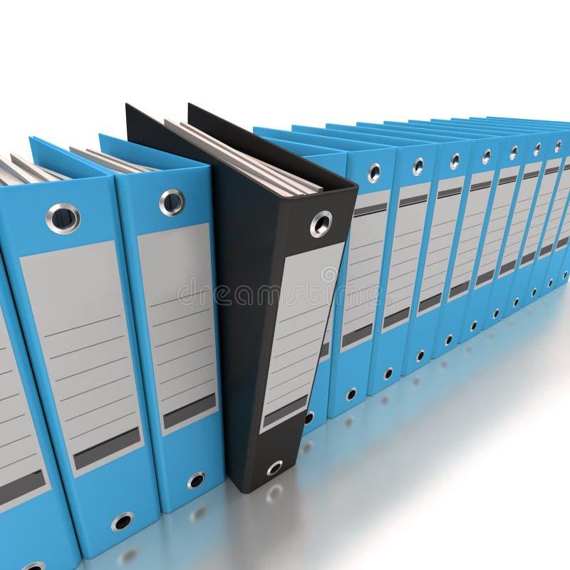 Azul de archivaje y de organización de la información libre illustration
