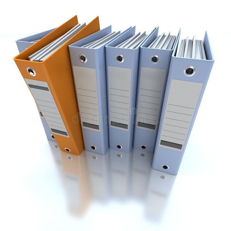 Azul de arquivo e de organização da informação ilustração stock