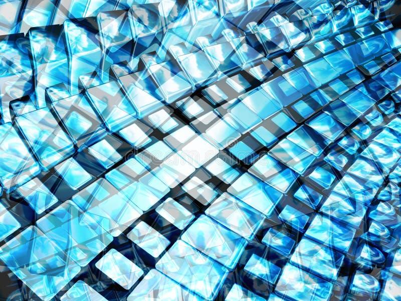 Azul de brilho 2 ilustração royalty free