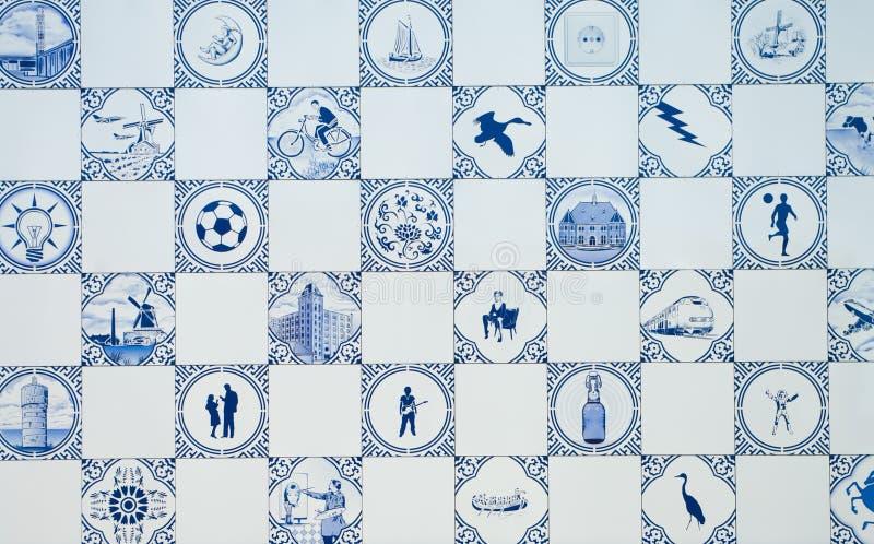 Azul de Delft fotografia de stock