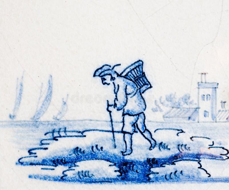 Azul de Delft imagem de stock royalty free