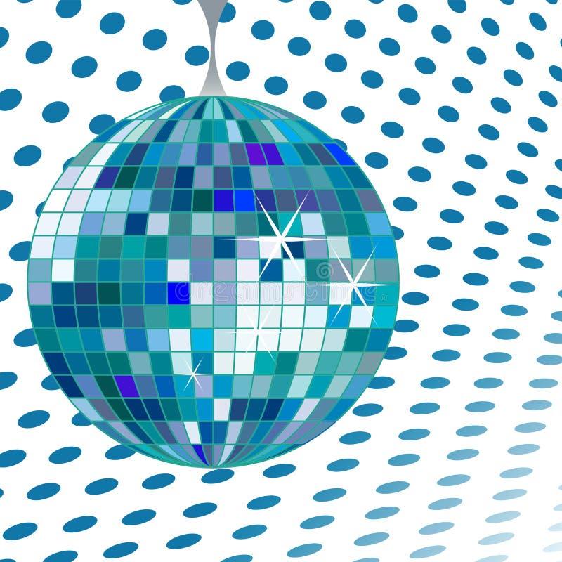 Azul de la bola del disco ilustración del vector