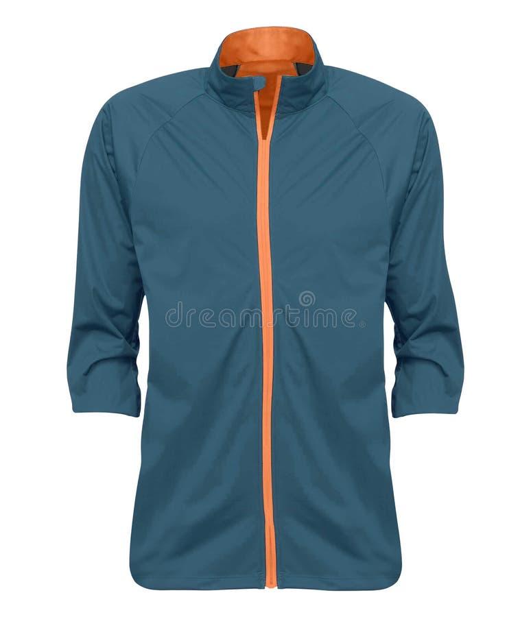 Azul de la chaqueta de la lluvia imagenes de archivo