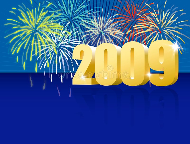 Download Azul de la Feliz Año Nuevo stock de ilustración. Ilustración de champán - 7275215
