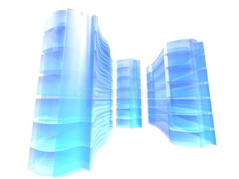 Azul de la granja del servidor ilustración del vector