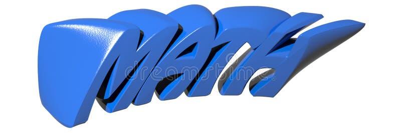 Azul de la MATEMÁTICAS ilustración del vector
