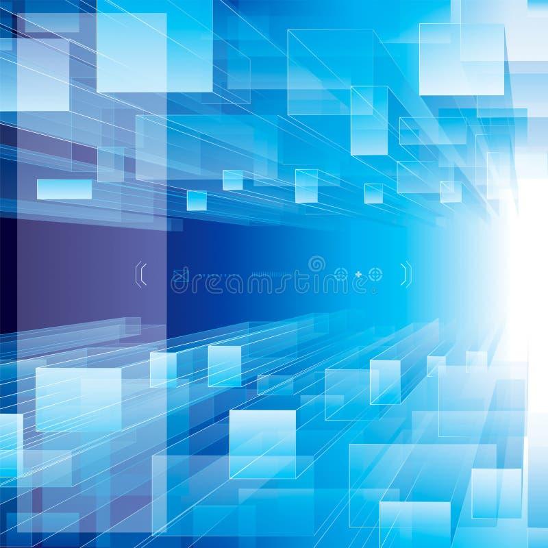 Azul de la perspectiva ilustración del vector