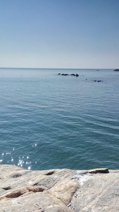 Azul de la playa del mar foto de archivo