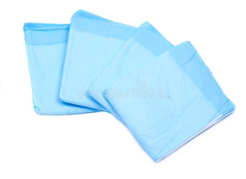 Azul de la talla media debajo de los cojines para los adultos imagen de archivo libre de regalías