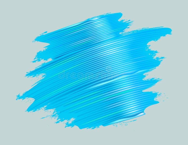 Azul de la textura del movimiento de la brocha stock de ilustración