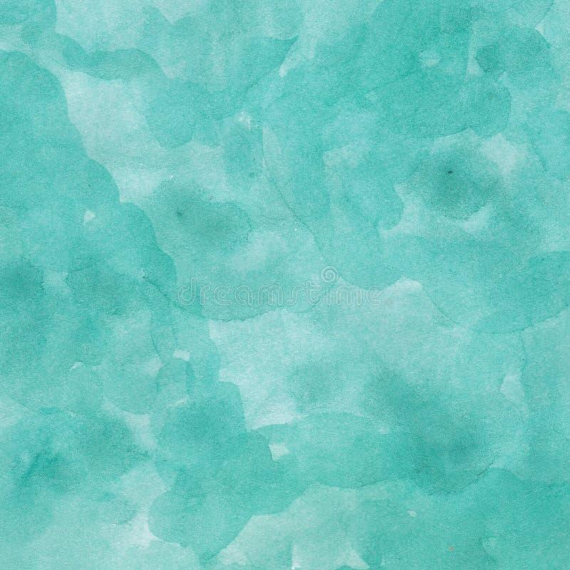 Azul de océano dibujado mano del fondo de la acuarela ilustración del vector