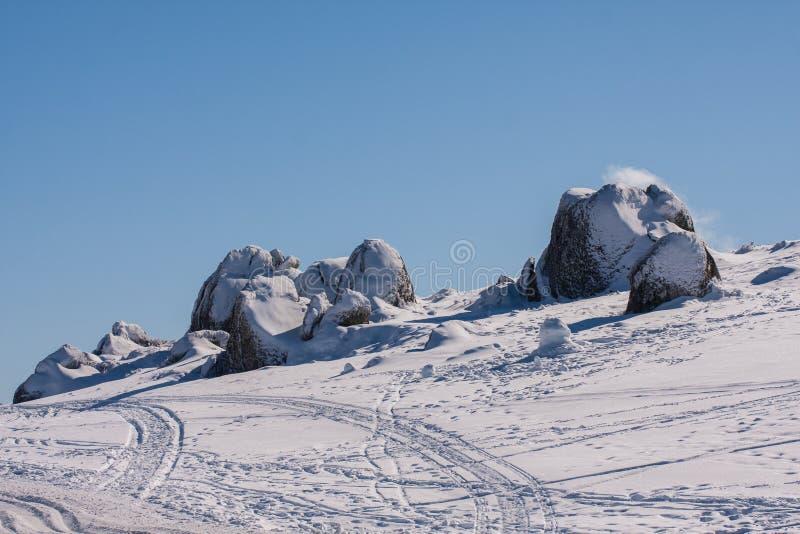 Azul de Perisher, montanha da neve em NSW/AUSTRALIA fotografia de stock royalty free