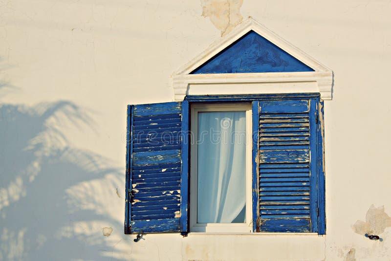 Azul de Santorini imagem de stock