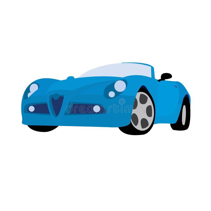 Azul del coche deportivo ilustración del vector