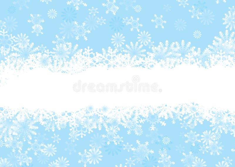 Azul del copo de nieve de la Navidad ilustración del vector