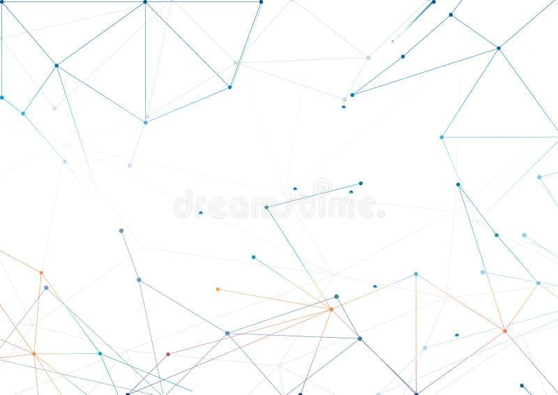 Azul del diseño del polígono del extracto del fondo de los vectores stock de ilustración