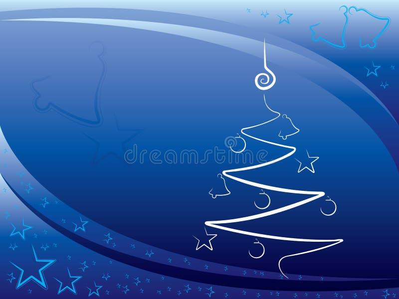 Azul del fondo de la Navidad ilustración del vector