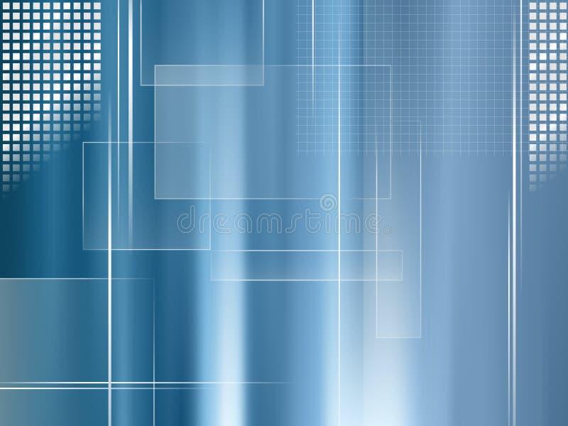 Azul del fondo del negocio global - plantilla abstracta de la tecnología y de las finanzas libre illustration