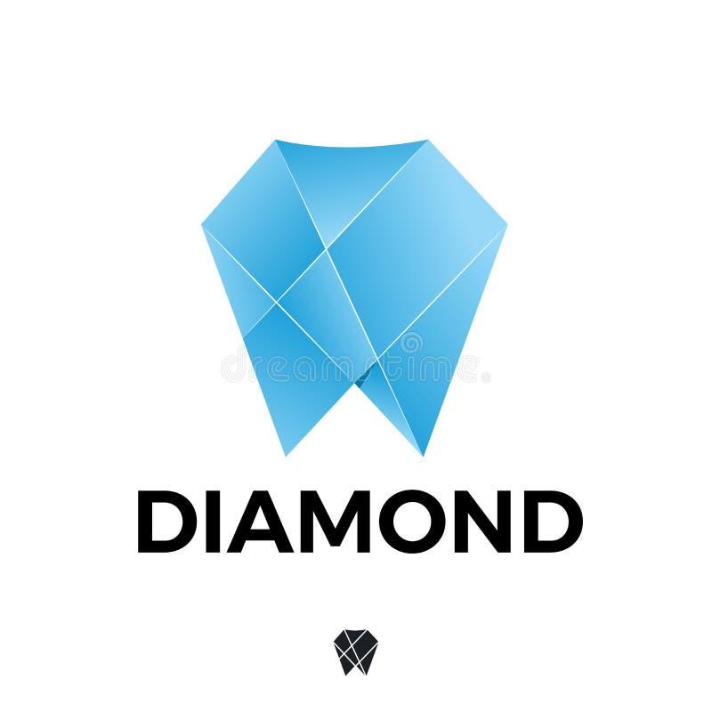 Azul del ib de Diamond Dental ilustración del vector