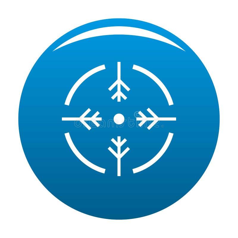 Azul del icono del círculo del lanzamiento stock de ilustración