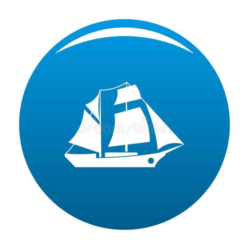 Azul del icono de la excursión de la nave ilustración del vector