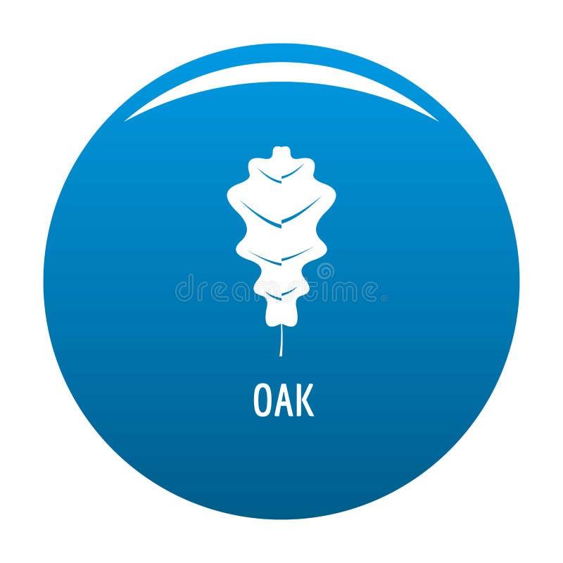 Azul del icono de la hoja del roble ilustración del vector