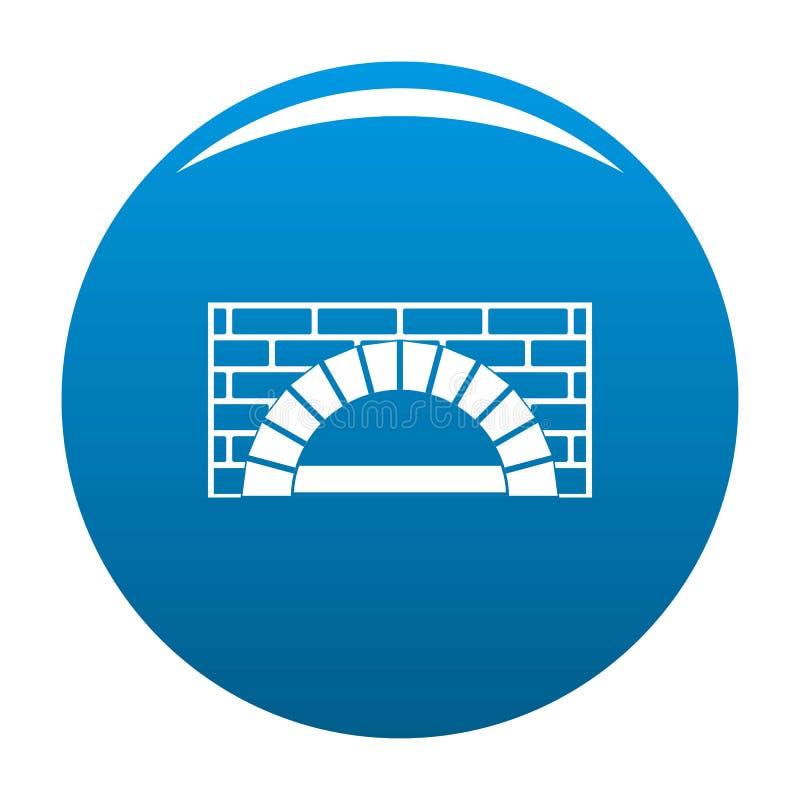 Azul del icono del horno del ladrillo stock de ilustración