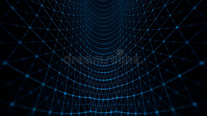 Azul del modelo de rejilla de la distorsión libre illustration