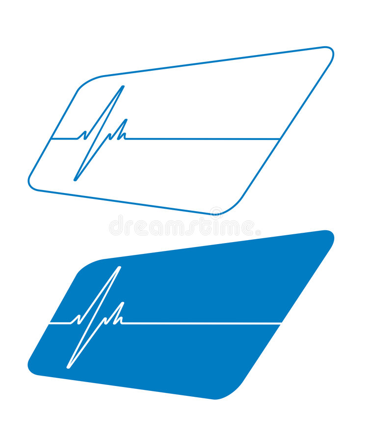 Azul del pulso ilustración del vector
