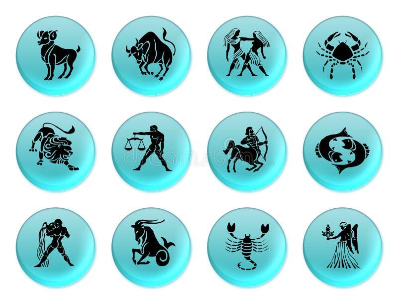 Azul del zodiaco stock de ilustración