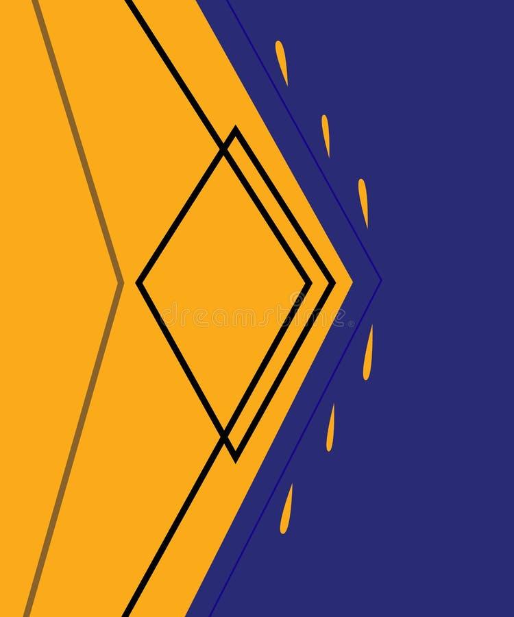 Azul diagonal del oro de los elementos del diseño libre illustration