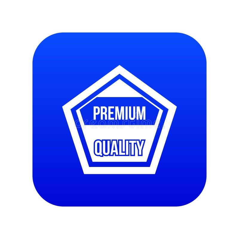 Azul digital de la calidad del icono superior de la etiqueta ilustración del vector