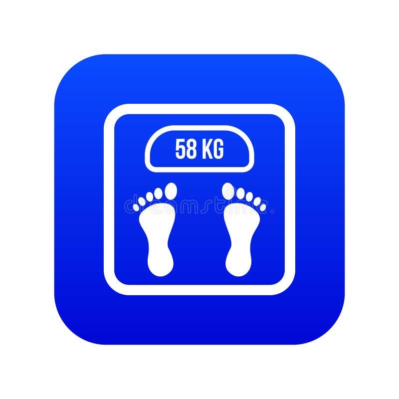 Azul digital del icono de la escala del peso libre illustration