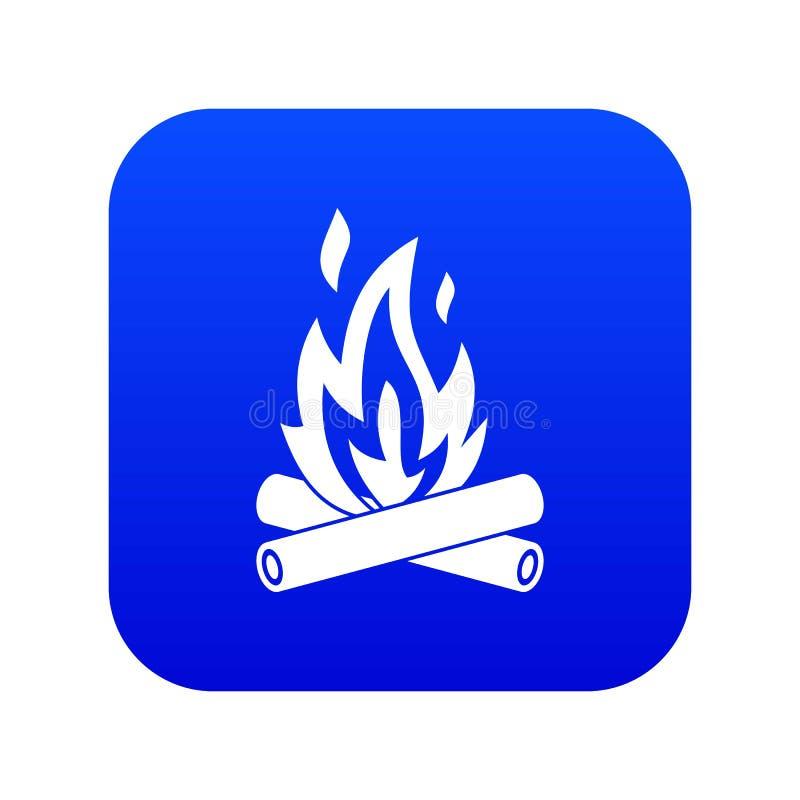 Azul digital do ícone da fogueira ilustração do vetor