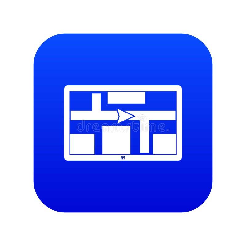 Azul digital do ícone da navegação de GPS ilustração do vetor