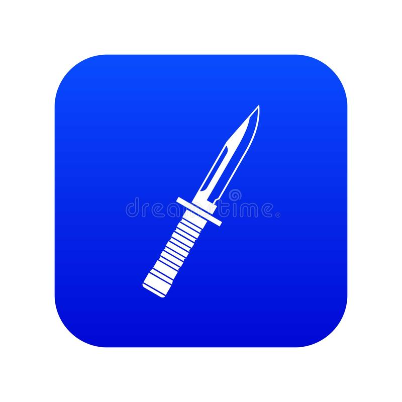 Azul digital do ícone militar da faca ilustração stock