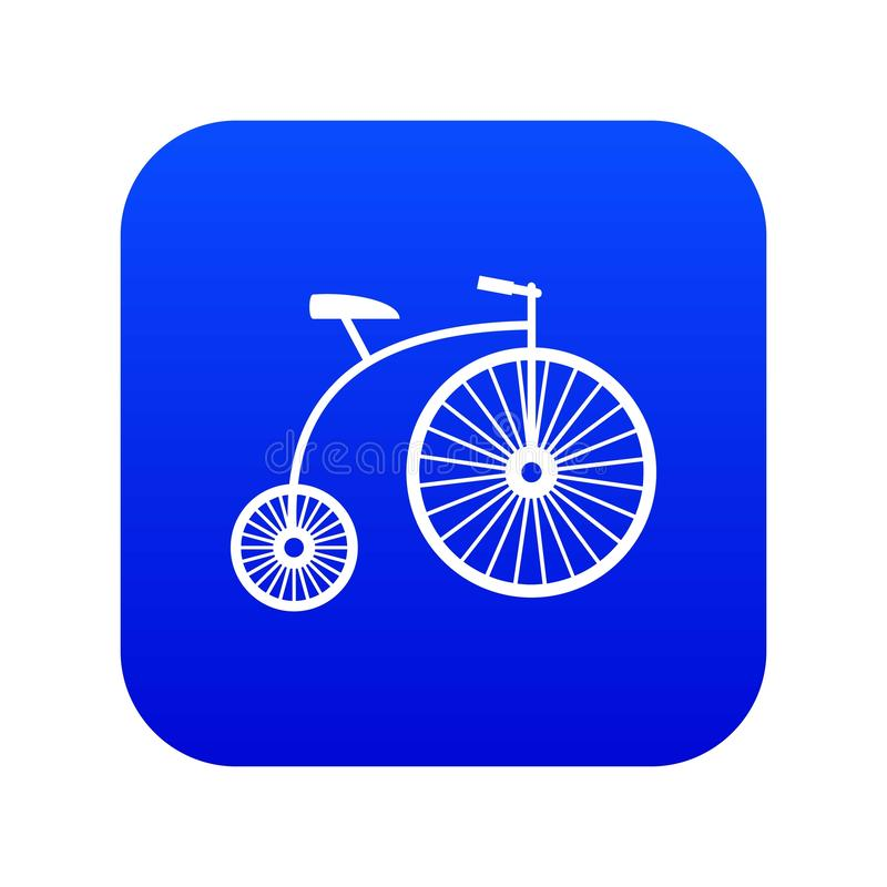 azul digital do ícone do Moeda de um centavo-farthing ilustração royalty free
