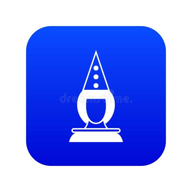 Azul digital do ícone do palhaço do pierrô ilustração royalty free