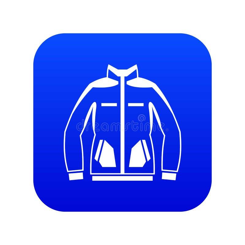 Azul digital do ícone do revestimento do inverno dos homens ilustração stock