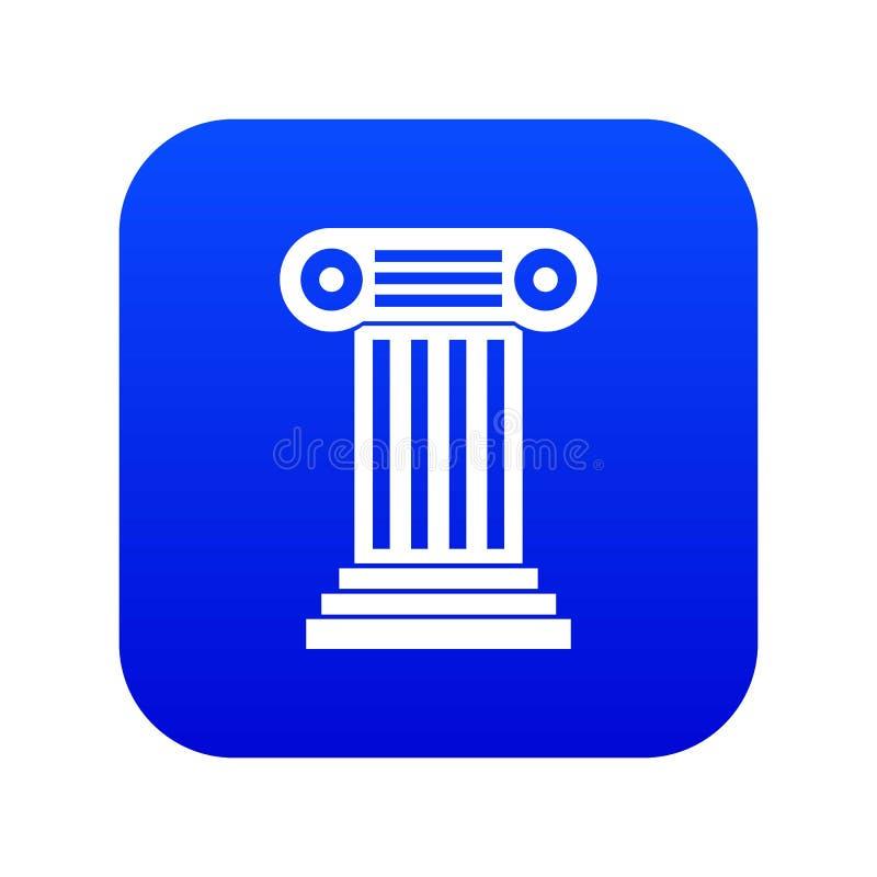 Azul digital do ícone romano da coluna ilustração royalty free