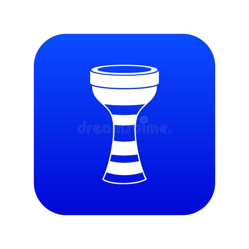 Azul digital do ?cone africano do cilindro ilustração stock