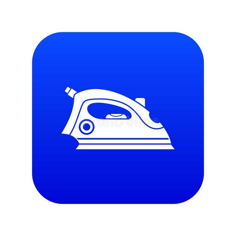 Azul digital do ?cone do ferro ilustração stock